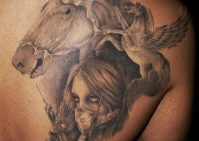 Arbeiten von Gabor/Pendragon Tattoo & Piercing Studios